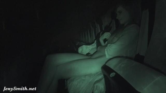 Jeny Smith Undresses At Movie Theater