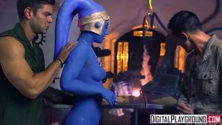 Star Wars Underworld: A Xxx Parody Scene 2, Slave Eva Lovia Takes Two Dick