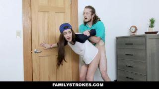 Familystrokes - Tomboy Stepsis Rides Her Stepbros Cock