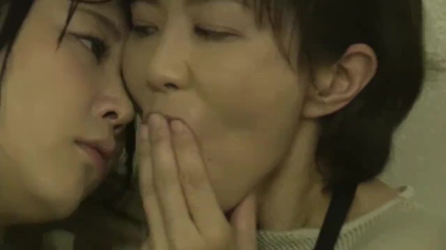 Jav - Mature Lesbian Abuses Young Woman In A Bathroom