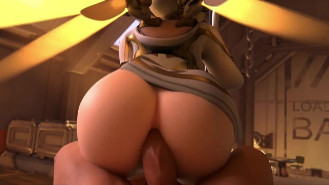 Winged Victory Mercy Reverse Cowgirl Overwatch (blender Animation W/sound)