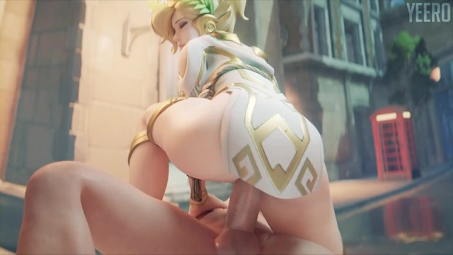 Winged Victory Mercy Riding Overwatch (blender Animation W/sound)