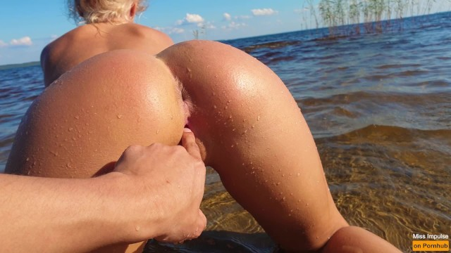 Petite Blonde With Perfect Pussy Fucks On A Public Beach - Miss Impulse