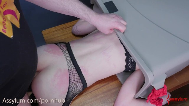 Hot Goth Girl Gets Face Slapped, Fed Piss, And Ass Fucked In The Trash