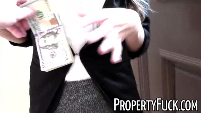 Real Estate Agent With Tight Petite Body Fucks Pervert Client With Camera