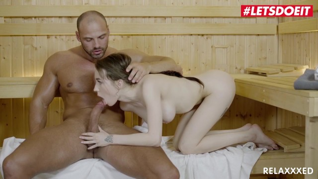 Letsdoeit - Teen Babe Angel Rush Gets Kinky In The Sauna With A Stranger