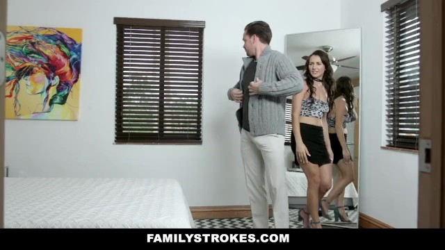 Familystrokes - Stepsister Fucks Nerdy Brother After Makeover